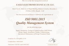 Eagle Electromechanical Co LLC ISO 9001:2015 Quality Management System