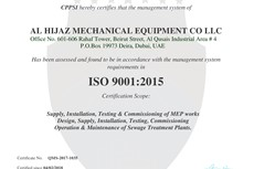 Al Hijaz Mechanical Equipment Co LLC ISO 9001:2015