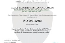 Eagle Electromechanical Co LLC ISO 9001:2015 Quality Management System