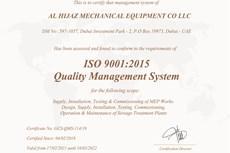 Al Hijaz Mechanical Equipment Co LLC ISO 9001:2015